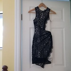 Beautiful lace applique evening dress